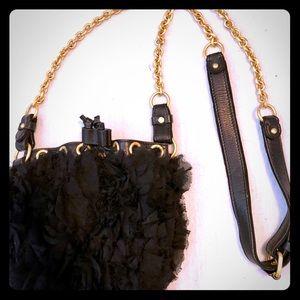 Juicy couture flowery black crossbody